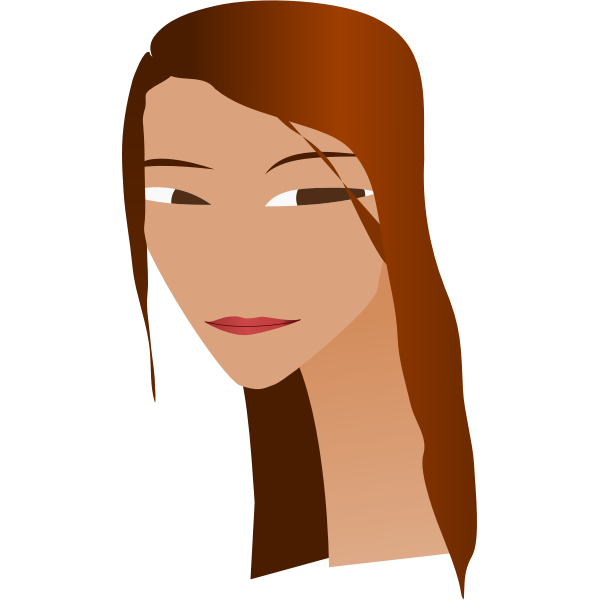 Woman's face with long neck