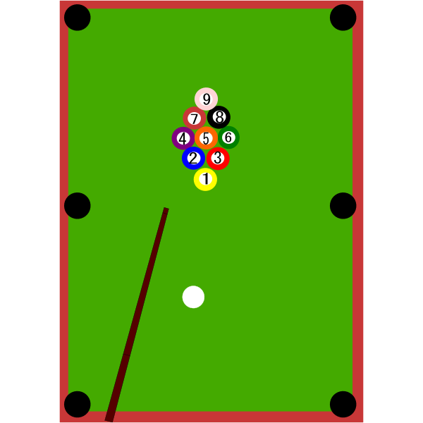 Snooker table vector image