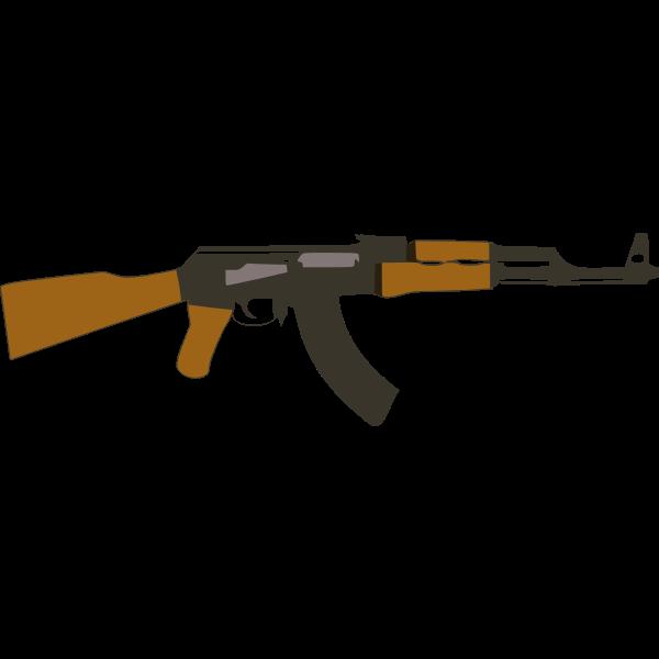 Vector image of Kalashnikov
