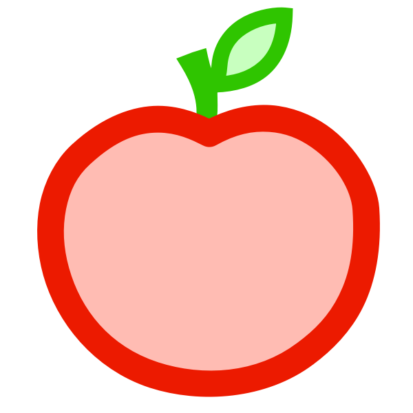 Apple icon vector graphics
