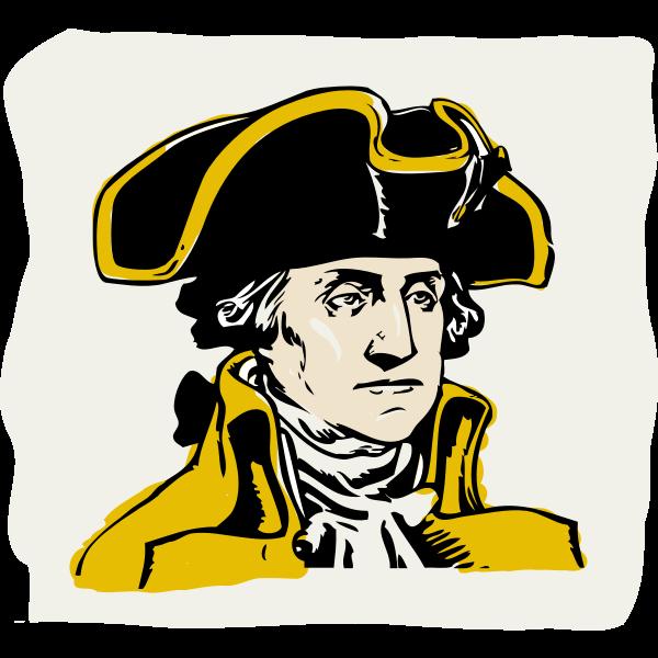 Vector illustration of George Washington