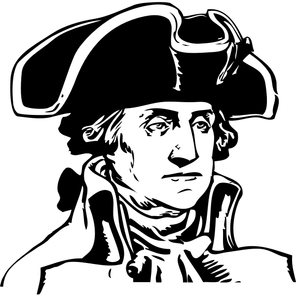 Vector illustration of portrait of George Washington