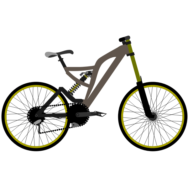 Mountain bike vector graphics