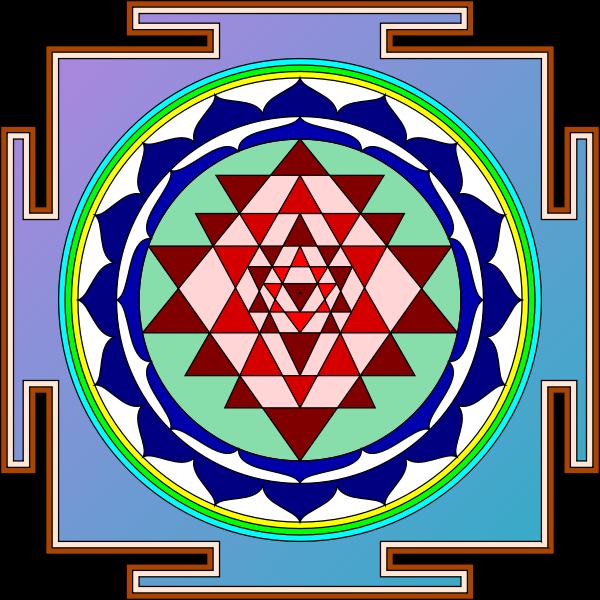 Sri Yantra Vector Image