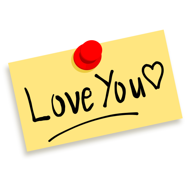 Vector image of love note