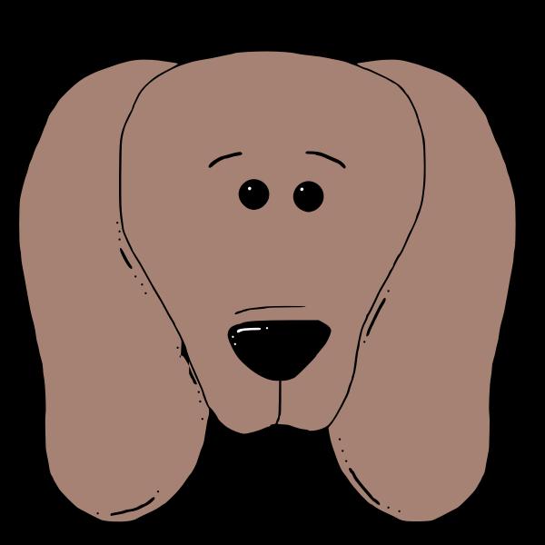 Dogface vector clip art