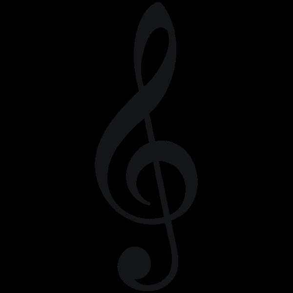 Treble clefs vector symbol