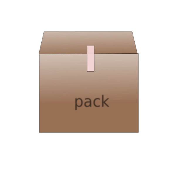 Vector image of carton packaging