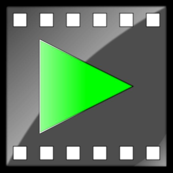 Linux AVI file icon vector image