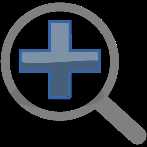 Vector graphics of zoom closer symbol