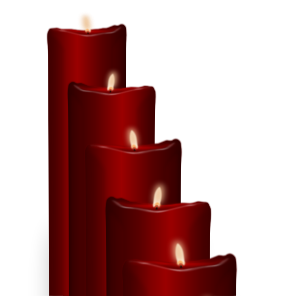 Candles vector set