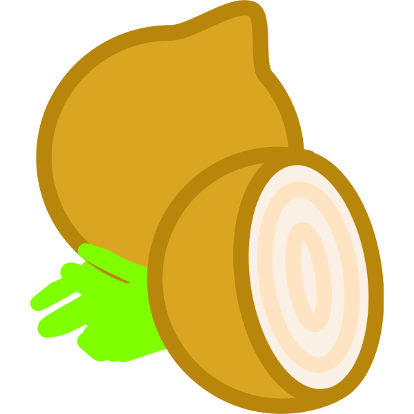 Onion and a half