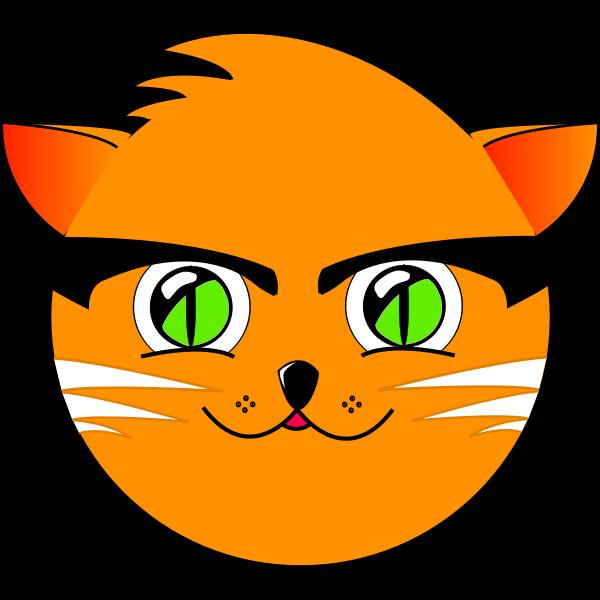 Cute cat vector graphics