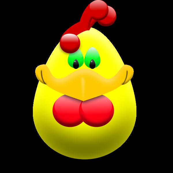 Easter egg hen vector clip art