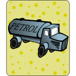 Tank truck cartoon icon