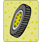 Car tire cartoon icon