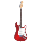 Red electric rock guitar vector clip art