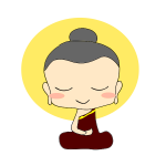 Vector drawing of cartoon Buddha