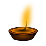 Candle light vector clip art