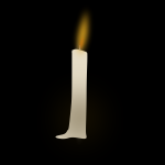 Burning candle vector clip art