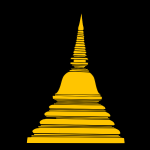 Buddhist temple vector clip art
