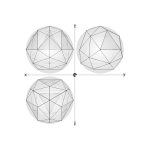27 construction geodesic spheres recursive from tetrahedron