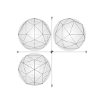 28 construction geodesic spheres recursive from tetrahedron