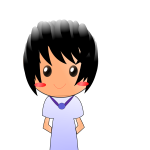 Cartoon guy with black hair vector image
