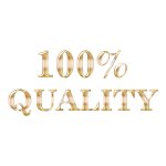 100 Percent Quality Typography Enhanced 2 No Background