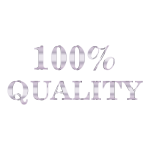 100 Percent Quality Typography Silver No Background