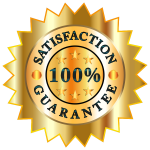 100 Percent Satisfaction Guarantee Badge