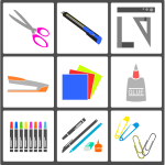 School or office supplies set