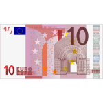 Vector image of 10 Euro banknote