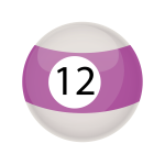 Purple snooker ball 12