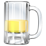 Vector image of half-full beer mug