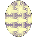 Circle with yellowish pattern