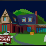 Haunted house vector drawing