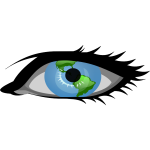 Global view vector image