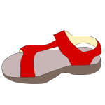 Red sandal vector clip art
