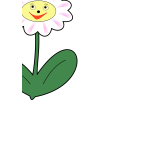 Simple daisy vector image