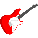 Red electric guitar vector graphics