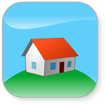 Home on top of a hill vector graphics