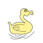Cartoon vector image of rubber duck