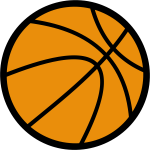 Basketball ball vector drawing with thick border