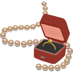Jewellery box and pearls vector image