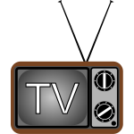 Old TV set vector illustration