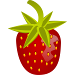 Vector image of sweet soft red fruit