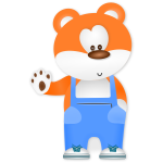 Vector graphics of teddy bear in trousers