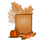 Autumn sign vector clip art