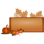 Brown fall border vector illustration